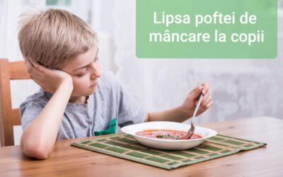 Dr. Steluța Boroghină -Lipsa Poftei De Mâncare La Copii